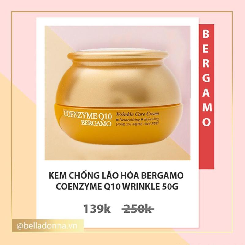 [Có Mã Giảm Giá, Hàng Auth] Kem Chống Lão Hóa Bergamo Coenzyme Q10 Wrinkle 50g