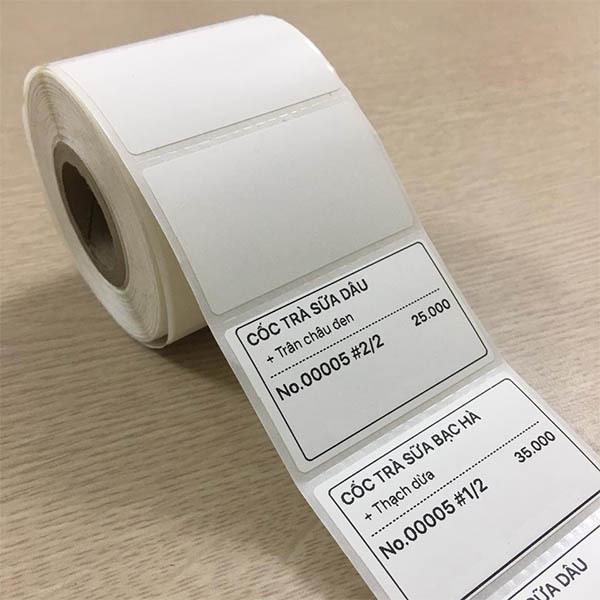 Mua Combo 10 Cuộn giấy in tem trà sữa 30x50