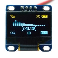 Hình ảnh 0.96 inch I2C IIC SPI Nối Tiếp 128x64 OLED MÀN HÌNH LCD Màn Hình Hiển Thị LED Module Arduino Vàng + Xanh Dương- quốc tế
