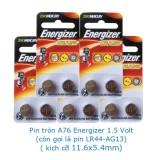 10 viên Pin tròn A76-LR44-AG13 Energizer Alkaline 1.5 volt