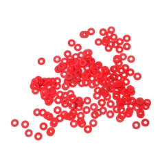 100pcs 3mm Red Motherboard Screw Insulating Fiber Washers - intl