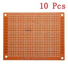 Hình ảnh 10pcs 7 x 9cm PCB Prototyping Printed Circuit Board Prototype Breadboard Stripboard - intl