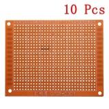 10 cái 7x9 cm PCB Tạo Mẫu Bảng Mạch In Nguyên Mẫu Bo Mạch Stripboard-quốc tế