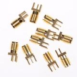 10 cái SMA Nữ Jack PCB Edge Hàn 0.062 ''RF Kết Nối Adapter-quốc tế