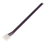 10Pcs Solderless 5Pin 1 Clip Rgbw Extend Cable Connector For Led Rgbw Strip Intl Oem Chiết Khấu 30
