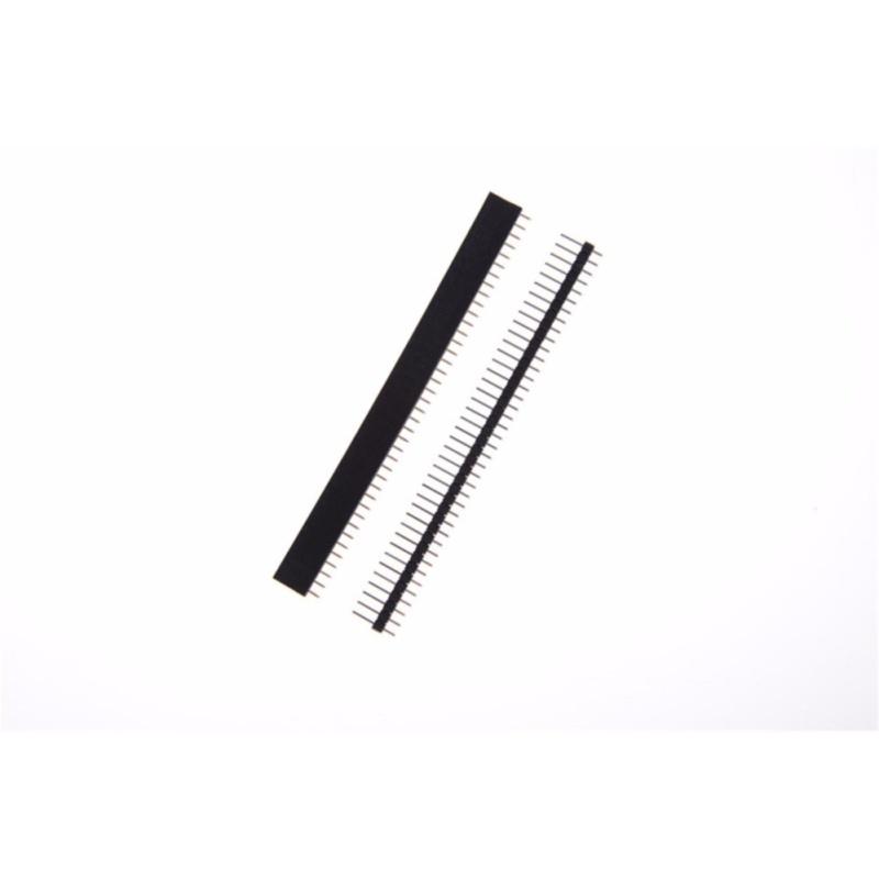 Bảng giá 10pcs/Set Black 40 Pin 2.54mm Single Row Straight Male + Female Pin Header Strip - intl Phong Vũ