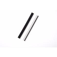 10pcs/Set Single Row Straight Male + Female Pin Header Strip 40 Pin 2.54mm Black - intl