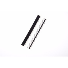 Hình ảnh 10 cái/bộ Hàng Đơn Nam + Nữ Pin Đầu Dây 40 Pin 2.54 mét Màu Đen-quốc tế