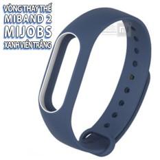 Hình ảnh (11 màu) vòng Mijobs, dây đeo thay thế dành cho Miband 2 , mẫu có viền, có logo Mijobs
