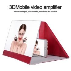 Hình ảnh 12 inch PU Có Thể Gập Lại Được Có Kính Phóng Đại Màn Hình 3D Phim HD Video Khuếch Đại cho (Hoa Hồng Đỏ)-quốc tế