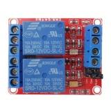 12V 2-Channel Relay Module Optocoupler H/L Level Triger - intl