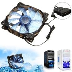 Bán 12V 3 Pin 4 Pin 120Mm Pwm Pc Computer Case Cpu Cooler Cooling Fan W Led Light Darkblue Intl Người Bán Sỉ