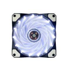 Quạt làm mát cho máy tính vận hành êm 15 đèn Led 12 v Neon (Trắng) -quốc tế