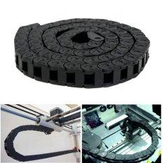Hình ảnh 1M Black Long Nylon Cable Drag Chain Wire Carrier for 3D Printer Tools 1000mm - intl