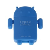 1 cái Android Robot Hình USB 3.1 Loại C OTG Driver Micro SD Card Đọc Thẻ TF-quốc tế