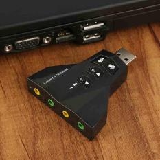 Giá 1PC USB 2.0 to 3D Audio Sound Card External Adapter Mic Headphone Virtual 7.1 CH - intl