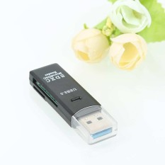 Hình ảnh 2 in 1 USB 3.0 High Speed Micro SD SDXC TF T-Flash Memory Card Reader Adapter - intl