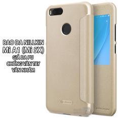 Giá Bán 2 Mau Bao Da Cửa Sổ Nillkin Dung Cho Xiaomi Mi A1 Mi 5X Giả Da Pu Van Nham Rẻ