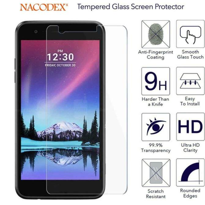 [2-Pack] For LG Fortune Tempered Glass, 0.33mm 2.5D Edge