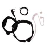 Ôn Tập 2 Pin Covert Acoustic Tube Earpiece Ptt Throat Mic For Baofeng Uv5R Intl