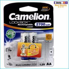 2 Pin Sạc AA Camelion LockBox Rechargeable 2700mAh (Trắng) Nhật Bản
