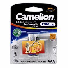 2 Pin Sạc AAA Camelion LockBox Rechargeable 1100mAh Nhật Bản