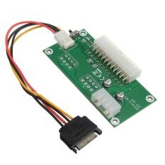 Hình ảnh 24PIN PC Desktop ATX Dual PSU Power Supply Sync Starter Extender Cable Board - intl