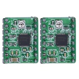 2pcs A4988 Stepper Motor Driver Module 3D Printer Polulu StepStick RepRap (Green) - intl