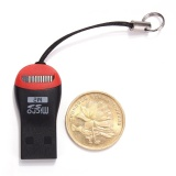 2PCS Mini USB 2.0 Micro SD T-Flash SDHC MS TF M2 High Speed Memory Card Reader 1-16GB - intl