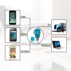 Hình ảnh 2 cái USB đọc SIM card và nhà văn đọc SIM card với đĩa màu xanh trong suốt Cổng USB-quốc tế