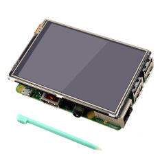 3.5 inch 320x480 RGB Pixels HD Màn Hình Hiển Thị Màn Hình Cảm Ứng với Bút Cảm Ứng dành cho Raspberry Pi 2 3 Mẫu b-quốc tế