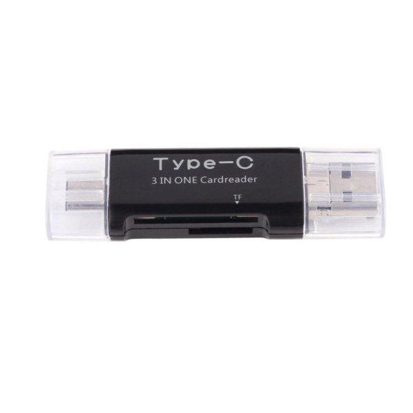 Đầu Đọc Thẻ SD Micro TF 3 Trọng 1 Loại-C Cổng USB3.1 USB2.0 Micro USB-quốc tế