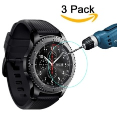 3-Packs Screen Protector for Gear S3 Classic SM-R770 S3 Frontier SM-R760 SM-R765 Waterproof Tempered Glass Ultra High Definition Crystal Clear Scratch Resist No-Bubble - intl