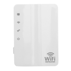 Hình ảnh 300Mbps Wall Plug Wi-Fi Amplifier Repeater Extender with Built-in Antenna (White) - intl