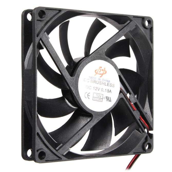 4 Pin 80mm 15mm Cooler Fan Heatsink Cooling Radiator For Computer PC CPU 12V - intl