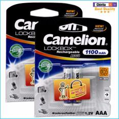 Mua 4 Pin Sạc Aaa Camelion Lockbox Rechargeable 1100Mah Trắng Camelion Rẻ