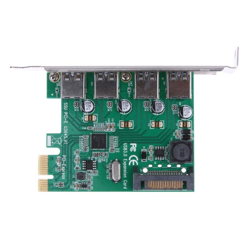 Bảng giá 4-Port USB 3.0 to PCI-E Expansion card with 15-pin SATA Power Connector - intl Phong Vũ