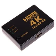 4K 2K 3in 1out Switch Hub Splitter TV Switcher Ultra HD for HDTV PC - intl