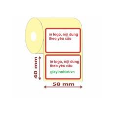 Giá 5 cuộn tem cân điện tử 58x40mm