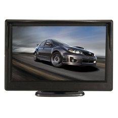 Hình ảnh 5 inch TFT-LCD HD Phía Sau Xe Chiếu Hậu Màn Hình W Chân Ngược Dự Phòng Camera-quốc tế
