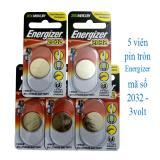 5 viên Pin tròn Energizer 2032 - 3 volt