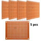 5 cái 7x9 cm PCB Tạo Mẫu Bảng Mạch In Nguyên Mẫu Bo Mạch Stripboard-quốc tế