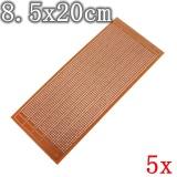 5 cái 8.5x20 cm DIY PCB Nguyên Mẫu Bảng Mạch In Ma Trận Stripboard Đa Năng-quốc tế