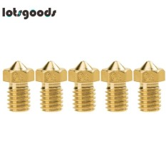 Hình ảnh 5pcs E3D-V5 V6 Nozzle M6 Threaded Brass(Gold)-1.75mm/0.8 - intl