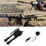 Cửa Hàng 6 9 Inches Outdoor Aluminium Telescopic Rifle Bipod Adjustable Spring Return With 3 Adapters Intl Trung Quốc