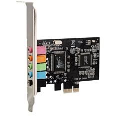 Hình ảnh 6 kênh 3.5 mét Âm Thanh CMI8738 PCIe Âm Thanh Vòm 5.1 Thẻ-Đen-quốc tế