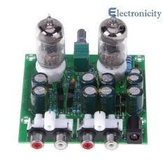 6J1 Hifi Stereo Electronic Tube Preamplifier Board Finished Preamp Amplifer Module - intl