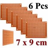 6 cái 7x9 cm PCB Tạo Mẫu Bảng Mạch In Nguyên Mẫu Bo Mạch Stripboard-quốc tế