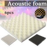 Giá Bán 6Pcs Sound Absorbing Acoustic Wedge Ktv Studio Triangle Soundproofing Foam Tile Intl Nguyên Not Specified