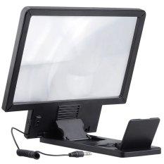 Hình ảnh 8.5 inch Điện Thoại Video HD Khuếch Đại Mở Rộng 3D Khuếch Đại Kính Phóng Đại Màn Hình (Đen)-quốc tế